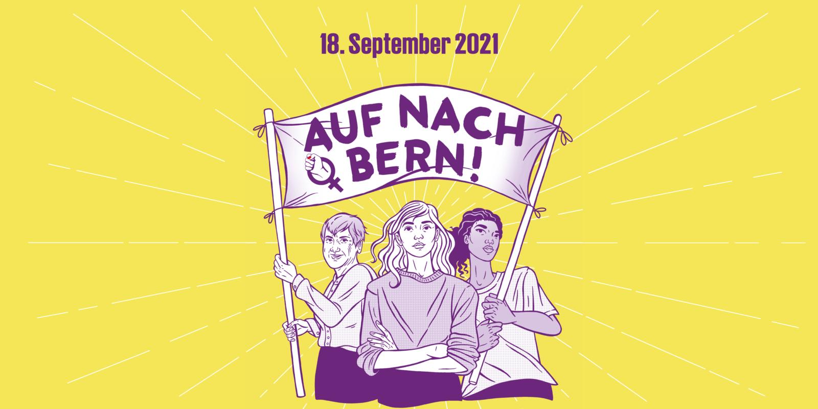 Auf nach Bern! Demo am 18. September 2021
